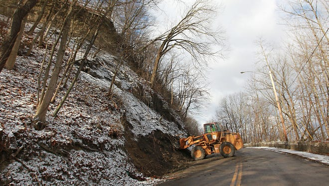 Dug Road, also known as Muskingum Avenue, will remain closed at this time. The city has received two estimates to repair the road, however the repairs would only be guaranteed for five years, according to Mayor Jeff Tilton.