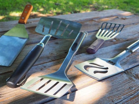 Grill spatulas are perfect for moving your hot pizza off the grill—or out of the oven.
