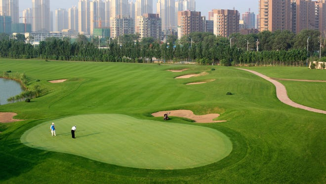 A golf course in Shenyang city, Liaoning province, on July 1, 2012.