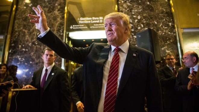 Donald Trump arrives to give a speech outlining his vision for the tax system Sept. 28, 2015, in New York City.