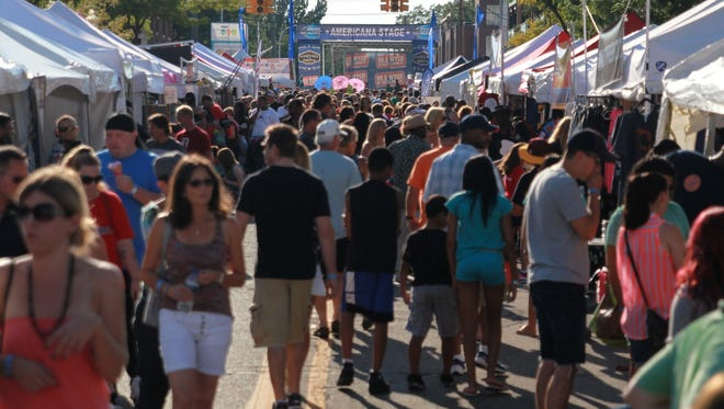 Sunny skies and warm summertime temperatures marked Day 2 of the 18th annual Ford Arts, Beats & Eats festival on Sept. 5, 2015.