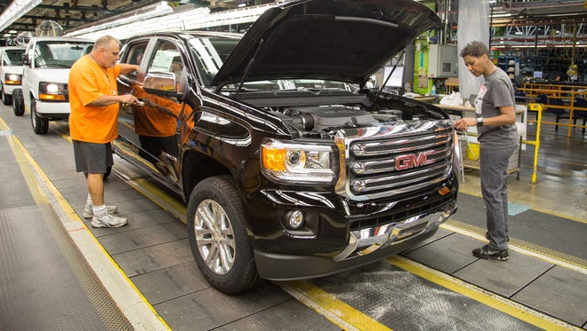 General Motors makes trucks at the  Wentzville Assembly plant in Missouri.