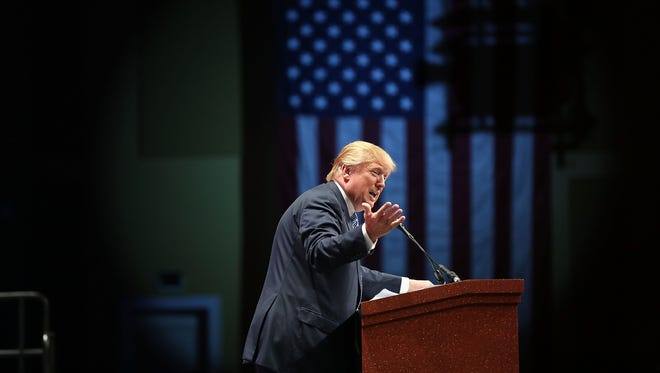 Donald Trump speaks during the Sunshine Summit  on Nov. 13, 2015, in Orlando, Fla.