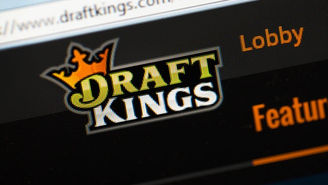 The DraftKings site on display.