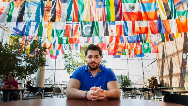 Omar Soufan, a biomedical engineering student from Syria studying at the University of Rochester, traveled to Lebanon last summer to set up a physical therapy clinic in a refugee camp. He is currently trying to get his family to come to the U.S. from Damascus.