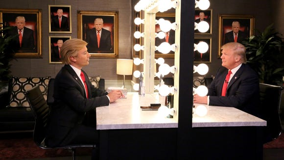 """Host Jimmy Fallon and Donald Trump appear on """"The Tonight"""
