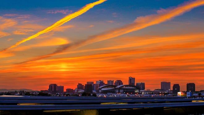 Phoenix skyline Monday, June 22, 2015 in Phoenix, Ariz.