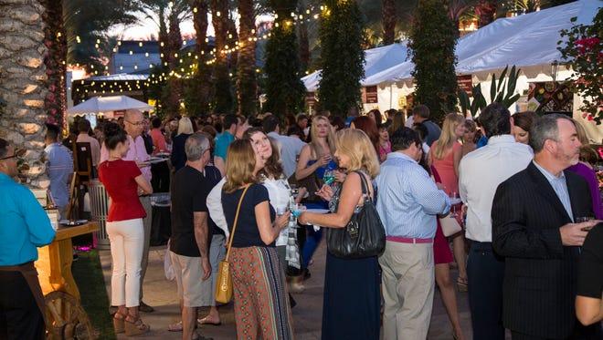 The scene at the AZ Wine & Dine in Scottsdale.