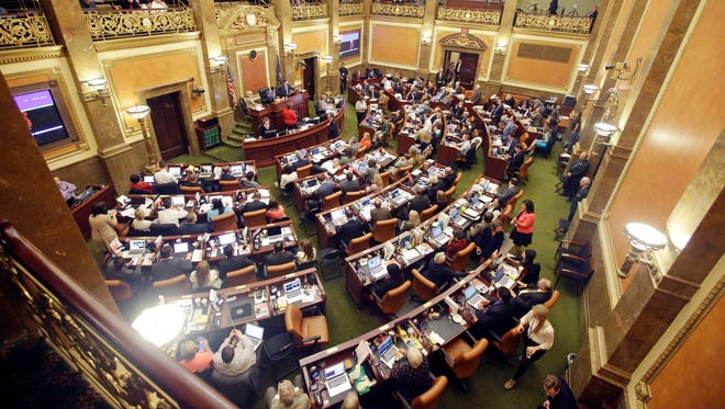 This March 10, 2016 file photo shows the House of Representatives debating on the floor in Salt Lake City.