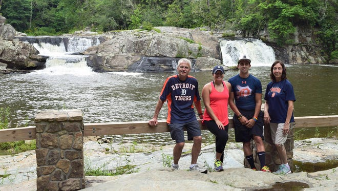 The Krusinski family of Roseville took the D on vacation this summer to Linville Falls along the Blue Ridge Parkway in North Carolina. Left to right: Dad Ron, daughter Kimberly, son Brian and mom Mary.