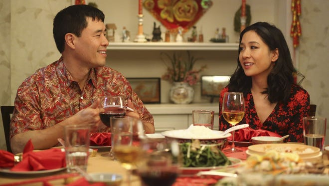 Randall Park and Constance Wu in ABC's 'Fresh Off the Boat.;