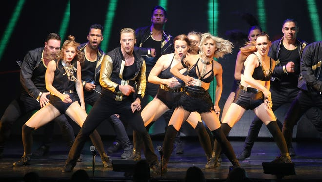 Julianne and Derek Hough's Move Beyond Tour comes to the Auditorium Theatre Wednesday, April 26.