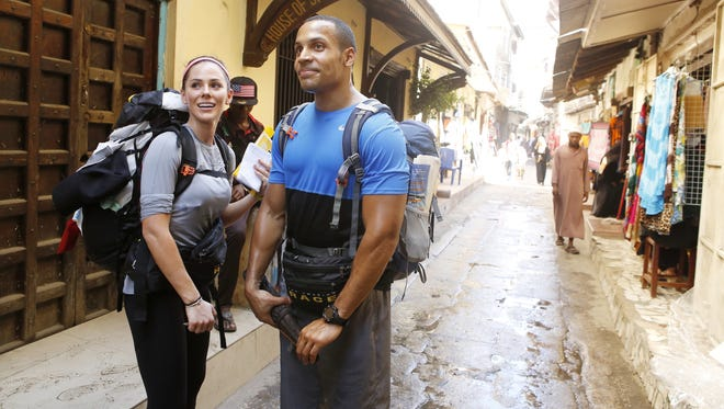 Sara and Shamir in CBS's 'The Amazing Race.'