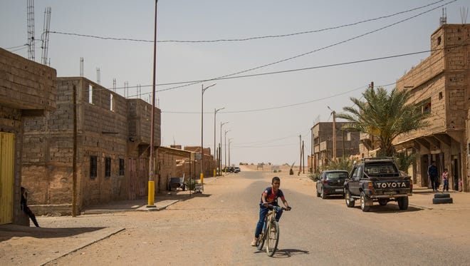 Many of Morocco's former nomads have settled in M'Hamid El Ghizlane, an oasis town of about 7,500 close to the Algerian border.