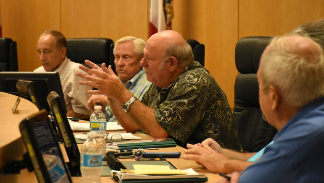 Marco Island Planning Board Vice-Chair Ed Issler makes a point in this file photo.