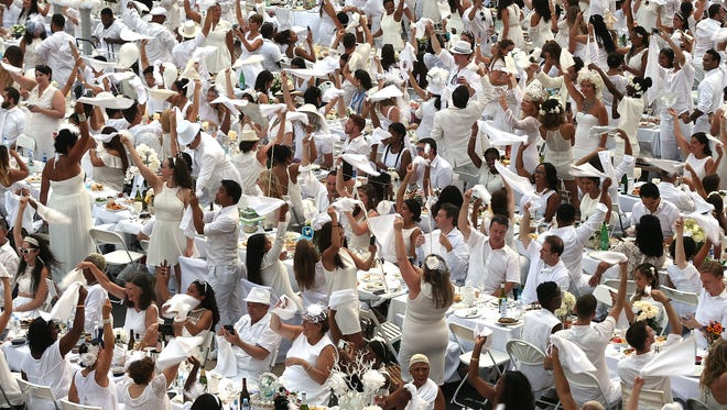 """Diner en Blanc"" is celebrated in over 70 cities worldwide with close to 120,000 guests participants yearly."