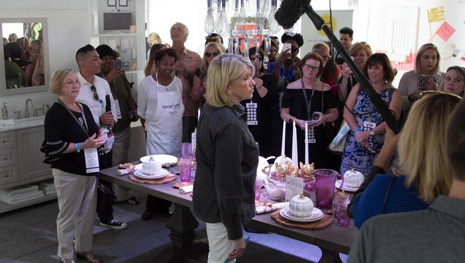 Martha Stewart holds court inside the Martha Stewart Experience during the Detroit Free Press Food & Wine Experience on Saturday in Detroit.