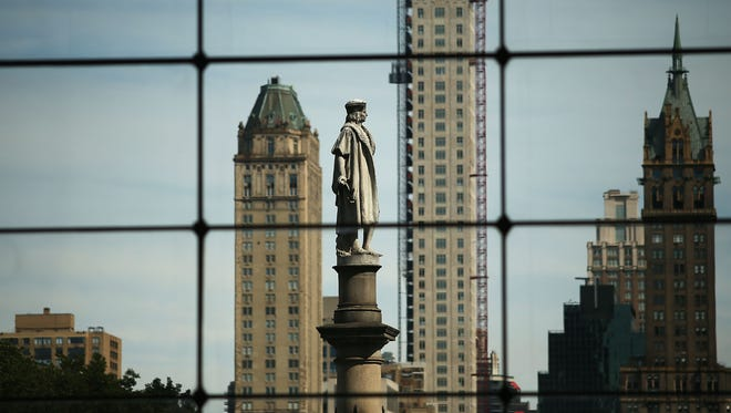 Statue of Christopher Columbus in New York.
