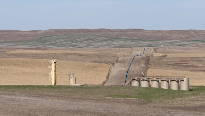 The Keystone Pipeline has been shut down on Thursday, Nov. 16, 2017, because of a leak that spilled thousands of gallons of oil in South Dakota.