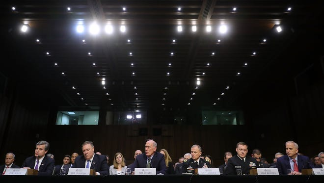 Senate Intelligence Committee hearing on Feb. 13, 2018.