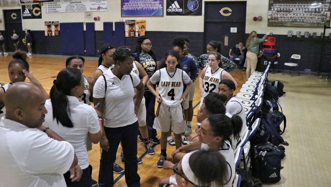 Carencro coach Keesha Sices celebrates her 48th birthday with a 64-51 Class 4A state regional round win over DeRidder on Monday.