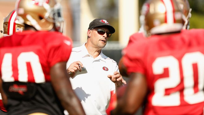 Former 49ers running backs coach Tom Rathman has a young group to work with in Indy.