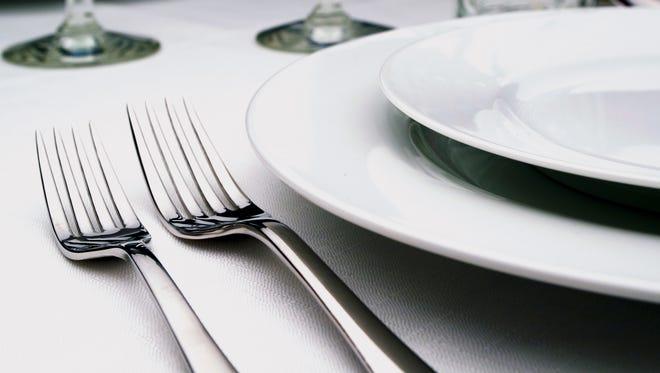 Table setting illustration.