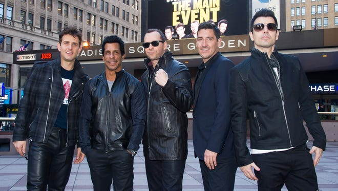 New Kids On The Block members (L-R) Joey McIntyre, Danny Wood, Donnie Wahlberg, Jonathan Knight and Jordan Knight.