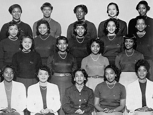 Members of Alpha Kappa Alpha, the first black sorority