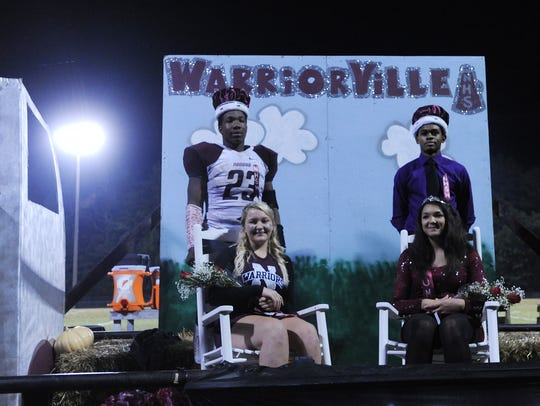 Nandua crowned its homecoming court on Friday, Oct.
