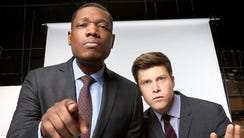 'SNL' 'Weekend Update' anchors Michael Che, left, and