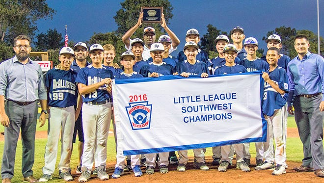 McAllister Park who was representing Texas-West beat New Mexico to claim the Southwest Region title Wednesday night.