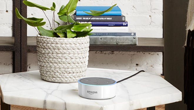 The Amazon Echo Dot has been upgraded and now sells for $50.