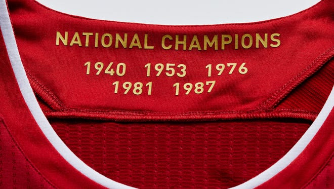 A closer look at Indiana men's updated basketball jersey.