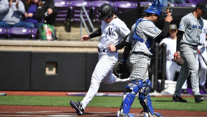 Roberson alum Connor Lind hit a walkoff homer for the Northwestern baseball team on Sunday.