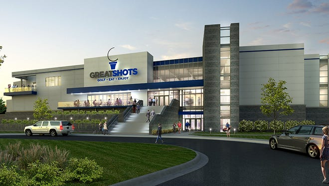 A rendering of Great Shots golf entertainment facility coming to northwestern Sioux Falls