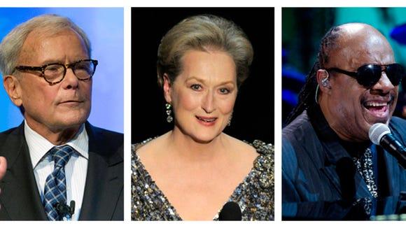 Tom Brokaw, Meryl Streep, and Stevie Wonder.