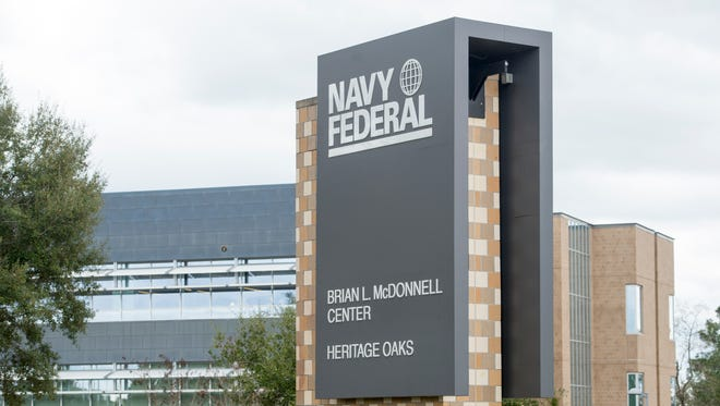 The Navy Federal Credit Union campus on Nine Mile Road in Pensacola is pictured in this file photo.