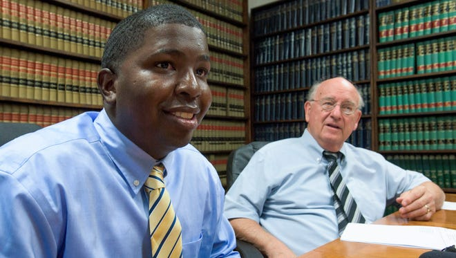 Myron Chappell and his attorney Julian McPhillips discuss Chappell case at a news conference in Montgomery, Ala., on Friday June 9, 2017.