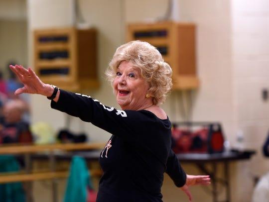 Former Rockette Jean Martin leads a tap-dance class
