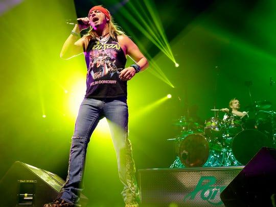 Poison frontman Bret Michaels performs April 19, 2017