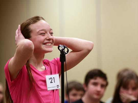 Savannah Fitzpatrick of Highland School reacts after