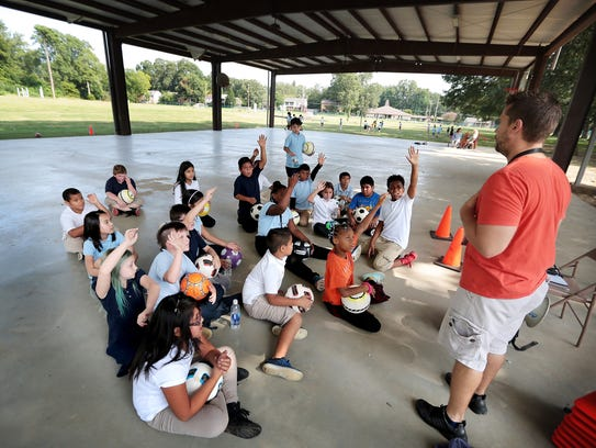 Grahamwood Elementary fourth graders learn about soccer