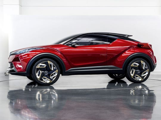 This Scion concept small SUVÊwill be renamed the Toyota C-HR and shown in production form at the 2016 Geneva auto show.
