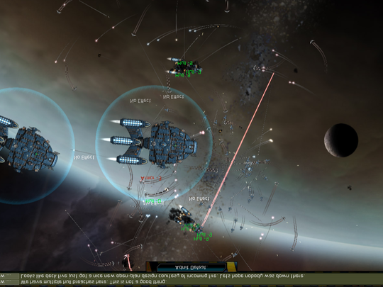 This image shows a scene from 'Gratuitous Space Battles'