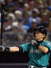 Ichiro Suzuki's batting stance and stretching routine