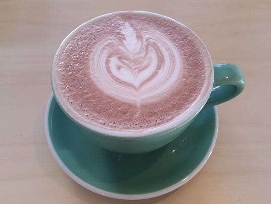 Hot chocolate from Ugly Duck Coffee.