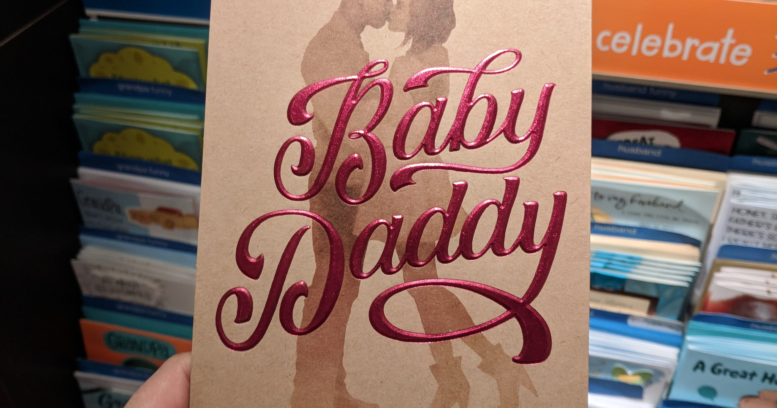 American greetings sorry for baby daddy card sold at target others m4hsunfo