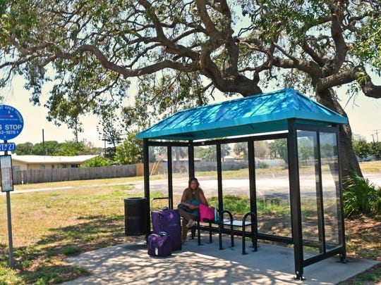 Palm Bay's Community Development Block Grant money helped pay for a Space Coast Area transit bus stop on Port Malabar Blvd.
