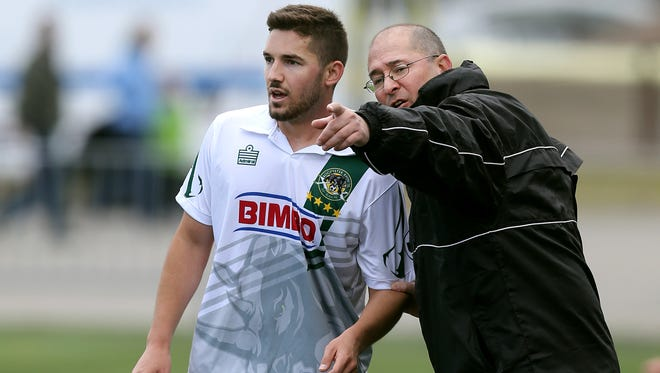 Bob Lilley, right, has the Rhinos pointed in the right direction headed into Friday's USL Championship game.